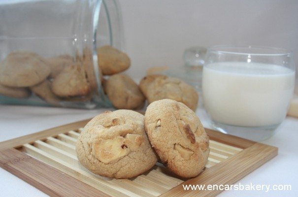 Galletas de chocolate blanco