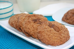 Galletas de avena con praliné