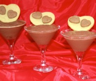Mousse de queso y chocolate light