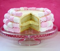 Marshmallow angel food cake