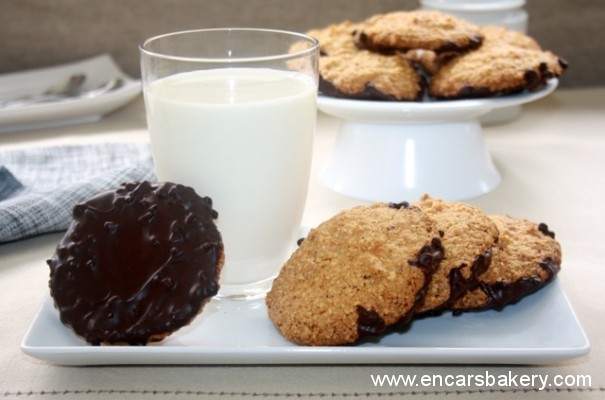 Cookies de avellana y chocolate